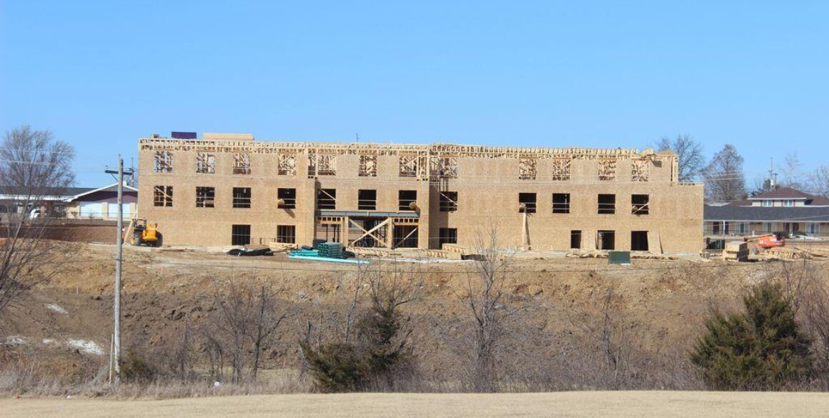 Premier Hotel Properties - Holiday Inn Express & Suites building construction in Kirksville.